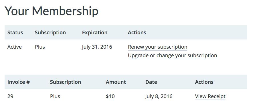 Restrict Content Pro membership