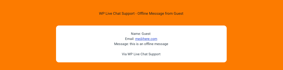 offline message email