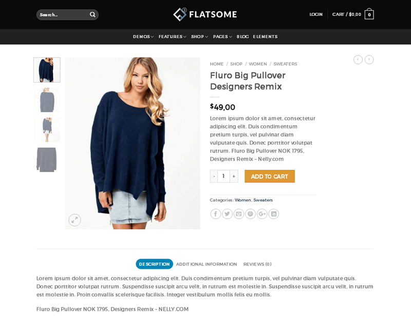 Flatsome Product Page