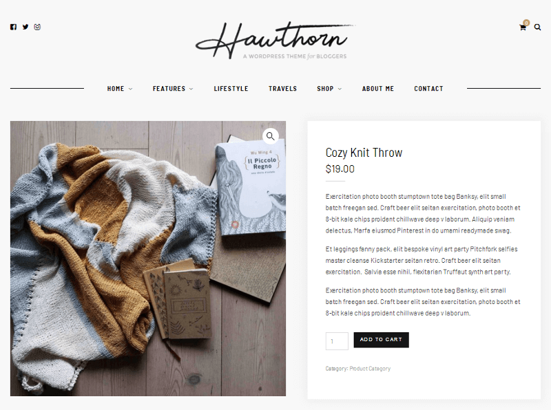 Hawthorn Product Page