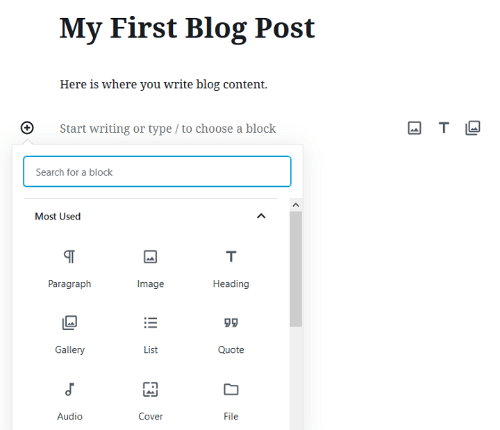 add gutenberg block