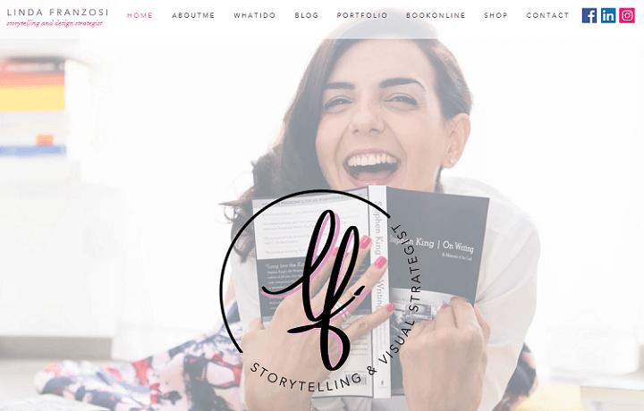 linda franzosi - portfolio wix website examples