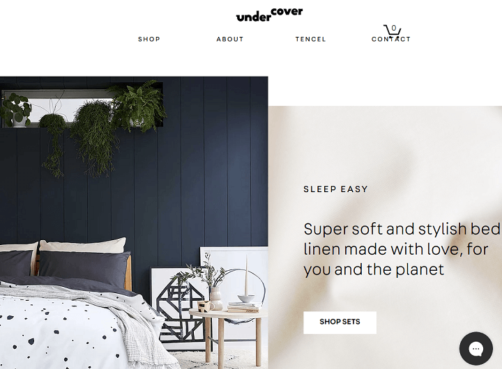 undercover living - online shop wix website examples
