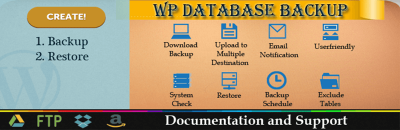 WP Database Backup Header