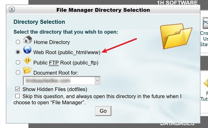 file manager directory