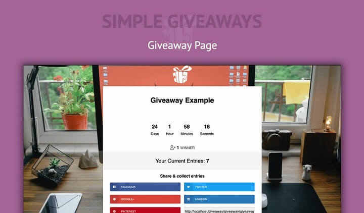 simple giveaways example