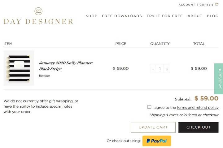 day designer - product in online shop