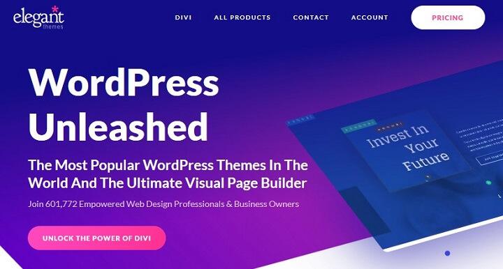 elegant themes wordpress theme shop