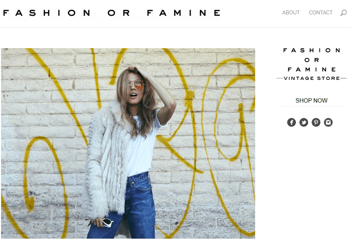 fashion or famine - divi theme examples