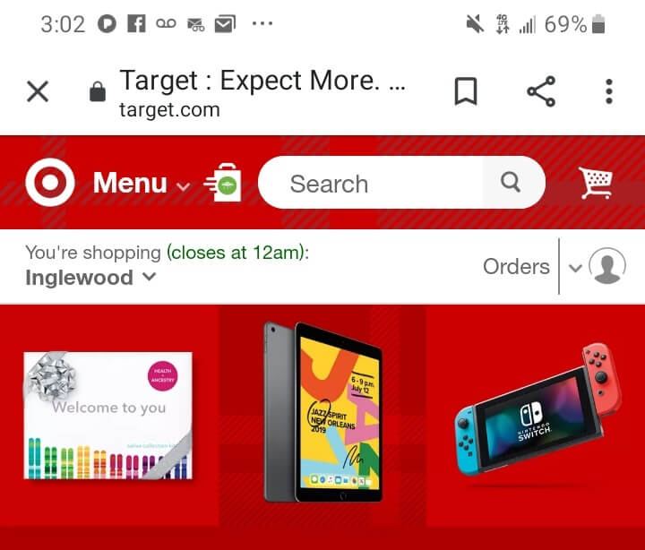 target - mobile device example