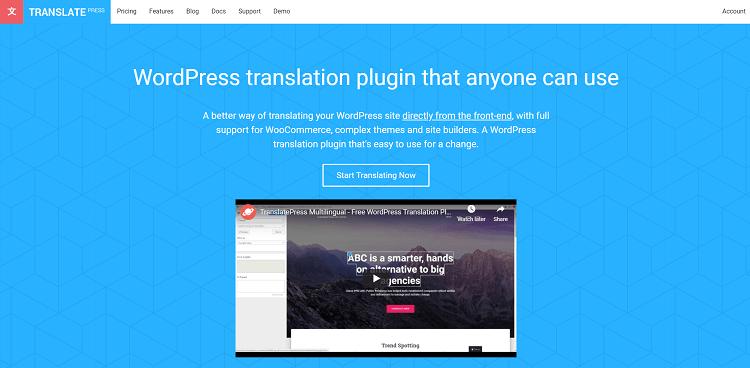 Multilingual plugins: TranslatePress