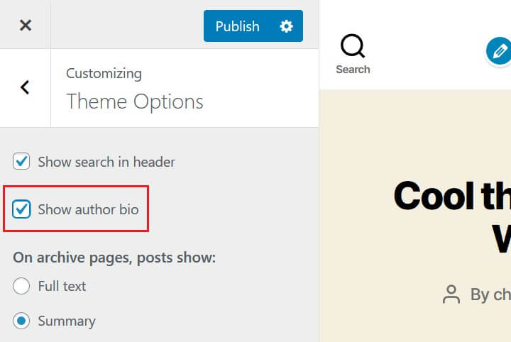 toggle on author box