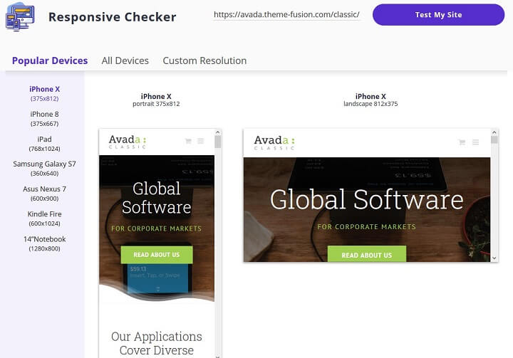 responsive checker example