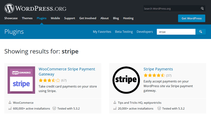 stripe wordpress plugins